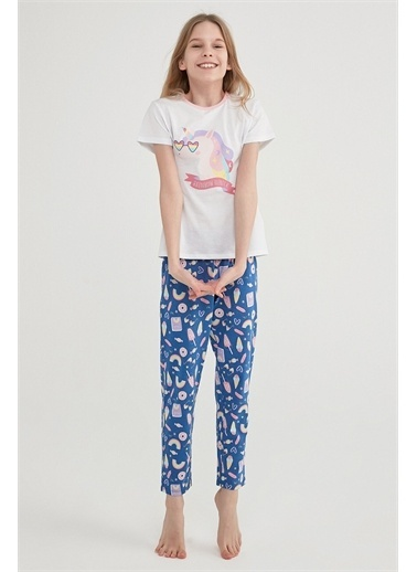 Penti Çok Renkli Kız Çocuk  Unıcorn  2Li Pijama Takımı Renkli